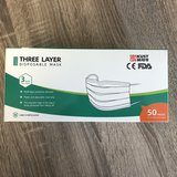 Protective disposeable 3-layer mask type 3PLY (packed in box of 50)