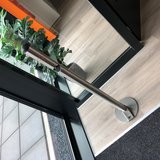 Foot-operated hygienic stainless steel dispenser