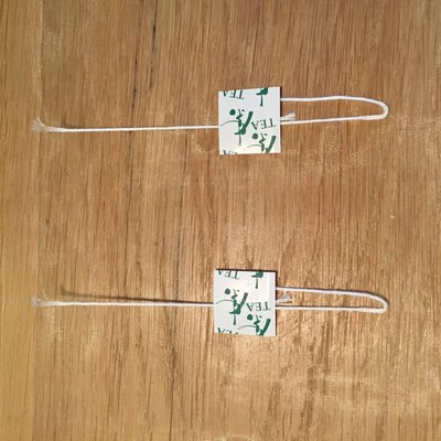 PLA Mesh 140mm x 58mm x 175mm x 8000st Neutral green tea tag