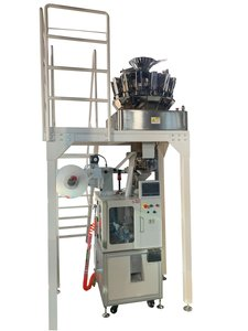 TP-P100 high-speed pyramid tea bag packing machine with 14-multi-head weigher
